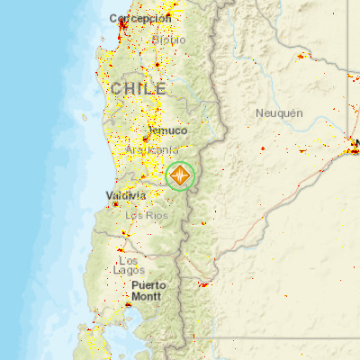 map of pucon chile Earthquake 5 0 11km Se Of Pucon Chile Pdc Hazard Information map of pucon chile