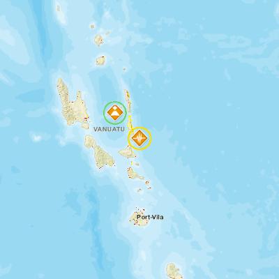 Earthquake 58 105km E of Lakatoro Vanuatu PDC Hazard Information