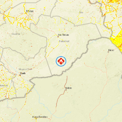 Wildfire S of Am Timan Salamat Chad PDC Hazard Information